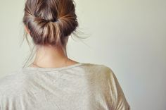 {pretty easy up-do} I do this all the time, and it looks lovely on my thin just past shoulder length hair.