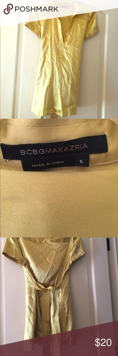 BCBG  Max Azria silky blouse Extremely comfortable yet professional silk shirt. Reminds me of my last job so getting it out of the closet. BCBGMaxAzria Tops Blouses