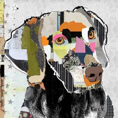 Dog Art of Weimaraner on Canvas Print
