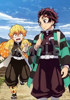 Zenitsu and Tanjiro met Anime Love, Anime Echii, Anime Demon, Anime Art, Demon Slayer, Slayer Anime, Another Misaki Mei, 1440x2560 Wallpaper, Hxh Characters