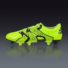 adidas X 15.1 FG AG Leather - Solar Yellow Frozen Yellow Black - 8f4de0df841a7