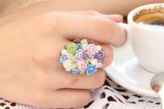 Floral Ring - Pastel Flowers