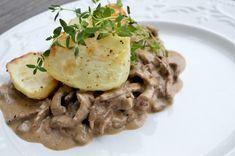 Viktväktarrecept Charcuterie, Lchf, Risotto, Spaghetti, Food And Drink, Chicken, Meat, Baking, Ethnic Recipes