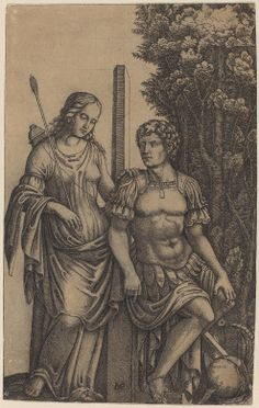 Marcantonio Raimondi (Italian, 1480-1534); Venus Appearing to Aeneas (c. 1505); engraving; National Gallery of Art, Washington, D.C.