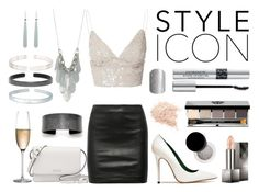 """""""Holiday style"""" by eastlyn-megan on Polyvore featuring Prada, Rogaska, The Row, Burberry, Bobbi Brown Cosmetics, Christian Dior, Glamorous and Acne Studios"""
