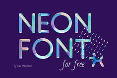 Neon Free Colorful Pattern Font is a pack of letters and pattern in PSD format. Coming to you to help you add some aesthetic