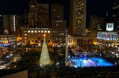 Union Square Holiday Ice Rink, San Francisco, California - Celebrate the holiday season with ice skating in the heart for SF.
