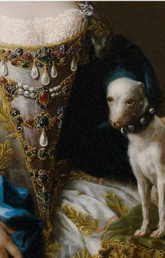 Sebastiano Ceccarini (1703–1783), Portrait of a Lady with a Lapdog, detail