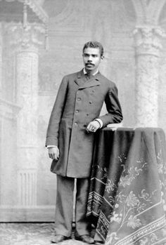 """Jerome Bowers Petersen,1900 New York City. An ancestor of the author of """"Black Gotham: African Americans in 19th Century. NYC"""". Harlem was farmland and the wealthy elite black people lived amongst the wealthy elite white people. BIDDY CRAFT"""