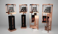 Hennessy shop in shop and posm on behance stand i display i signage витрина Pos Display, Wine Display, Display Design, Booth Design, Product Display, Display Ideas, Pos Design, Stand Design, Retail Design