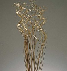 "Decorative Curly Ting in Gold<br>24-28"" Tall with 4 oz. Per Bundle"