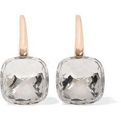 Pomellato Nudo Classic 18-karat rose gold topaz earrings ($4,780) ❤ liked on Polyvore featuring jewelry, earrings, 18k rose gold jewelry, clasp earrings, pink gold earrings, topaz jewellery and topaz jewelry