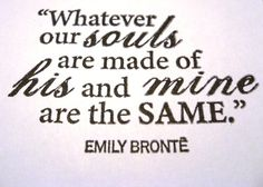 soulmates greeting card 4 x 6 inch Emily Bronte beautiful soulmates love anniversary valentine husband to be card. $1.85, via Etsy.