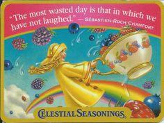 Celestial Seasonings fridge magnet~Love the tea, artwork & words of inspiration!
