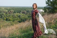 """Medieval flax linen dress """"Archeress"""""""