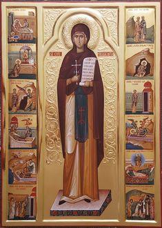 Αγία Παρασκευή η Επιβατηνή / Saint Parasceve of Iași Orthodox Icons, Saints, Community, Drawings, Angels, Woman, Female, Clothes, Outfits