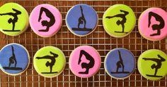 Gymnastic sugar cookies