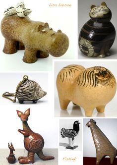 Lisa Larson, Swedish Ceramic Designer. | Fishinkblog's Blog