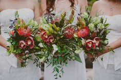 native Australian wedding bouquets