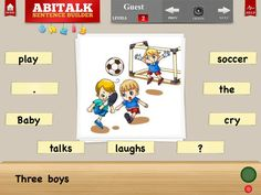 FREE app Sentence Builder (reg 4.99) This is a great app I use often in my Kindergarten class - 7/18/14