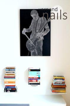 string art portrait Jónsi - Sigur Rós