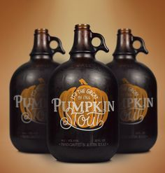Pumpkin Stout designed by Theresa Garritano Design & Spiceworks. Wish this was real! #packagedesign #beer