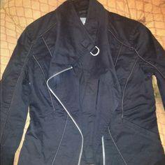 Jacket Armani Exchange black motorcycle jacket. Size small. Form fitting. Rarely worn. Armani Exchange Jackets & Coats