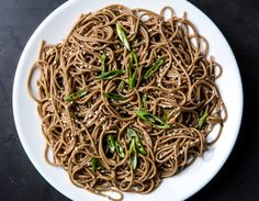 A Pantry Soba That's Fancy Enough for Company . A few pantry staples turn plain soba noodles into a meal that's fit for company. Best Pasta Recipes, Noodle Recipes, Raw Food Recipes, Asian Recipes, Vegetarian Recipes, Cooking Recipes, Healthy Recipes, Healthy Food, Yummy Food