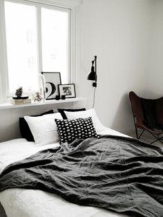 window shelf styling, lamp + buttlerfly chair   BLACKBIRD: PROJECT Godhemsgatan