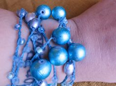 Glacier  Versatile crocheted necklace / bracelet / by FleasKnees, $20.00