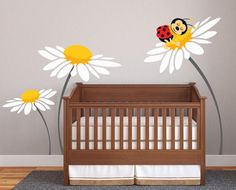 Baby Girl Nursery Ideas Daisy Lady Bug Decals for by DecaIisland, $78.00