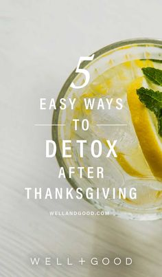 5 ways to detox after Thanksgiving
