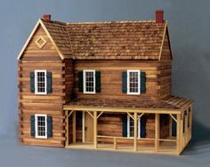 A Real Good Toys best seller - the Ponderosa Log Cabin Dollhouse Kit. - Hoping to build this one one day!