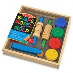 This Melissa & Doug Shape, Model and Mould Play Kit contains great tools for much needed creativity with your little ones!