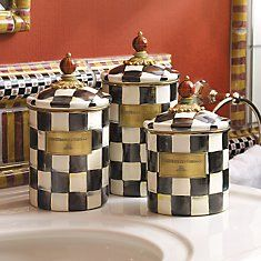 Courtly Check Enamelware - Mackenzie Childs