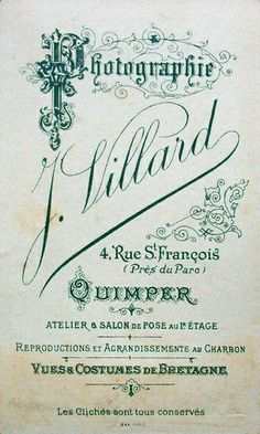 VILLARD (1) - Quimper, Finistère