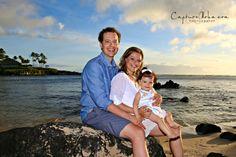Family Photo, Maui Photographer, Kapalua Bay, Sunset Portrait Session, www.capturealoha.com