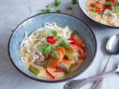 thaisuppe med rød karry Karry, Thai Red Curry, Ethnic Recipes