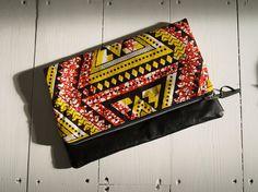 Ankara Clutch Purse with faux leather