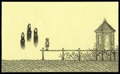 Man tekent creepy monsters op post-its in z'n vrije tijd (19 pics)   Flabber