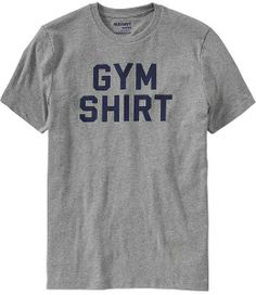 """Old Navy Men's """"Gym Shirt"""" Graphic Tees on shopstyle.com"""