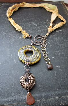 Fiber in Jewelry...along with wire, focal components, etc.