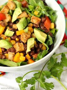 Southwest Salad with Pork