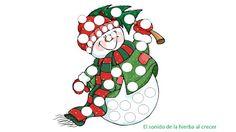 Láminas navideñas para completar con pompones :El sonido de la hierba al crecer