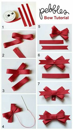 "Ways To Make Fancy Bows ""Back To School Cards with Bow Tutorial - Pebbles, Inc."", ""Bow Tutorial by Mendi Yoshikawa Yoshikawa"", ""Best bow tutorials - Diy Ribbon, Ribbon Crafts, Ribbon Bows, Paper Crafts, Ribbons, Ribbon Flower, Hair Bow Tutorial, Flower Tutorial, Ribbon Bow Tutorial"