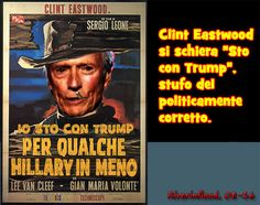 Clint Eastwood sta con Trump