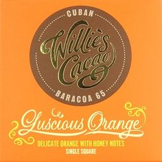 Our new range from Willies Chocolate, features this single origin dark chocolate which is infused with organic orange essence.    Willie's Cacao is a British bean to bar chocolate maker (cacaofevier), based in Devon.    Now available from the Chocolate Trading Co.