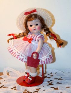 VOGUE STRUNG GINNY 1953 LUCY #39 Tiny Miss Series DRESSED DOLL, COLOR VARIATION | eBay