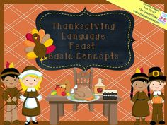 Speechie Freebies: Thanksgiving Language Feast-Basic Concepts. Pinned by SOS Inc. Resources. Follow all our boards at pinterest.com/sostherapy/ for therapy resources.