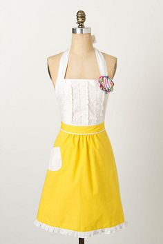 Tea-And-Crumpets Apron #anthropologie I would gladly cook every single day if I had this. :)